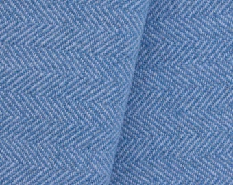 Light Blue and Wedgewood, Felted Wool Fabric for Rug Hooking, Wool Applique and Crafts