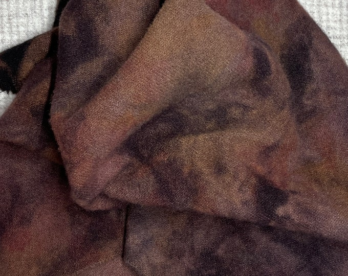 Spot Dye, MFS #4 Brown, Fat Quarter for Rug Hooking, Wool Applique and Crafts