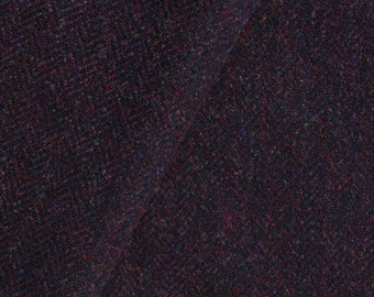 Very Dark Purple Heather, Felted Wool Fabric for Rug Hooking, Wool Applique and Crafts