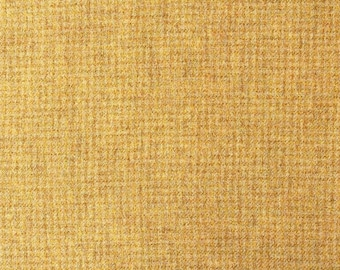 Sunflower Check, 100% Felted Wool Fabric for Rug Hooking, Wool Applique and Crafts
