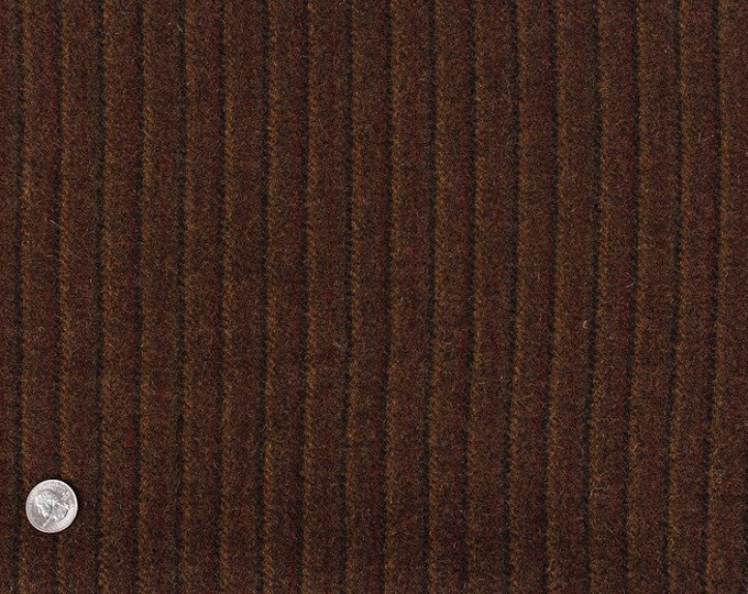 Chestnut Hill Stripe, 100% Felted Wool Fabric for Rug Hooking, Wool Applique and Crafts
