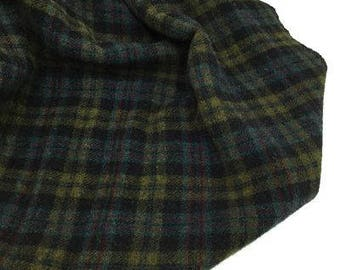 Gemstone Plaid, Felted Wool Fabric for Rug Hooking, Wool Applique and Crafts