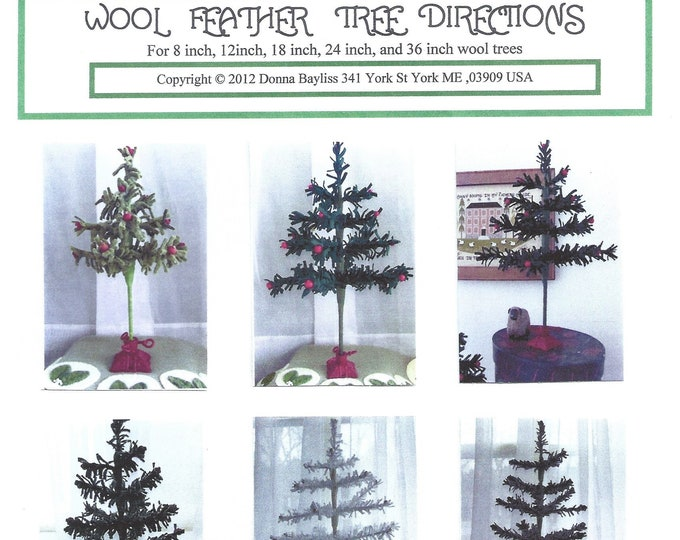 """Wool Feather Tree Kit for 18"""" Tree"""