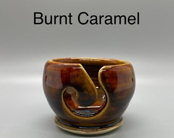 Burnt Caramel, Pottery Thread Bowl