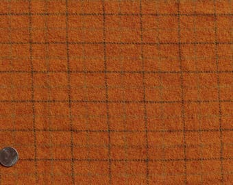 Pumpkin Patch, Felted Wool Fabric for Rug Hooking, Applique and Crafts