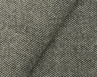 Black and Natural Barley Corn Weave, Felted Wool Fabric for Rug Hooking, Wool Applique and Crafts