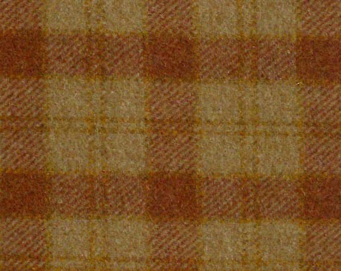 Ginger Snap Plaid, Felted Wool Fabric for Rug Hooking, Wool Applique & Crafts