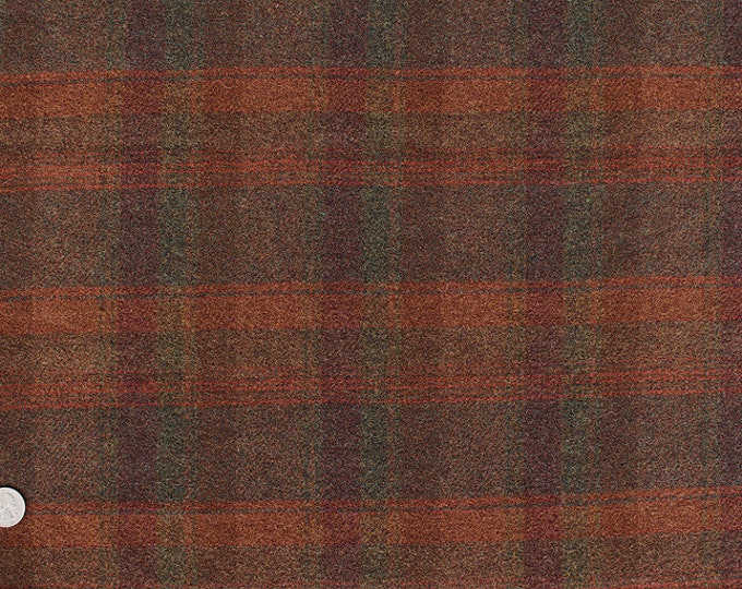 Oak Leaf Plaid, 100% Felted Wool Fabric for Rug Hooking and Wool Applique and Crafts