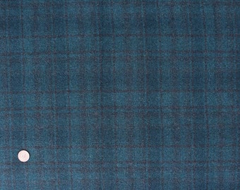 Caribbean Teal Plaid, Wool Fabric for Rug Hooking, Wool for Applique & Crafts