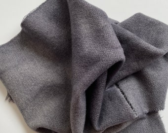 Charcoal Gray Value #6, Hand Dyed, Felted Wool Fabric for Rug Hooking, Wool Applique and Crafts