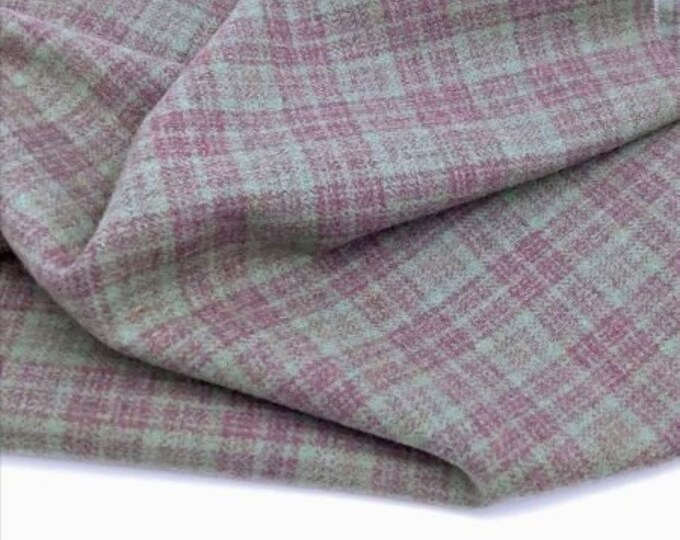 Crafting Felted Wool Fabric Sheet in Plaid for Rug Hooking Appliqu\u00e9