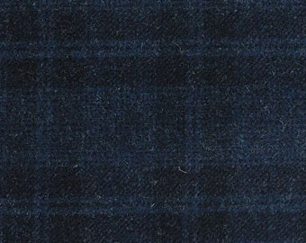 Midnight Blue, Felted Wool Fabric for Rug Hooking, Wool Applique and Crafts