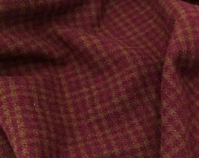 Grandma's Cupboard Check, Felted Wool Fabric for Rug Hooking, Wool Applique & Crafts