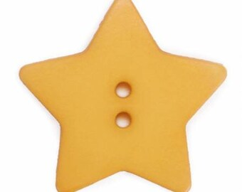 Star Buttons, Qty 2, 1-1/8 inch each