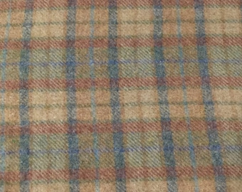 Soft Pastel Plaid, Felted Wool Fabric for Rug Hooking, Wool Applique and Crafts