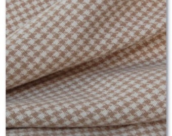 Tan Houndstooth, Felted Wool Fabric for Rug Hooking, Wool Appliqué and Crafts