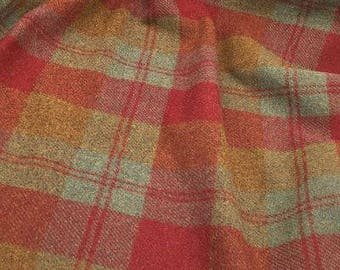 Autumns Calling Plaid, Felted Wool Fabric for Rug Hooking, Wool Applique and Crafts