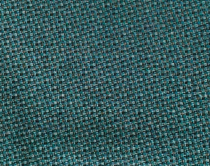 Blue and Teal Honeycomb, Felted Wool for Rug Hooking, Wool Applique and Crafts