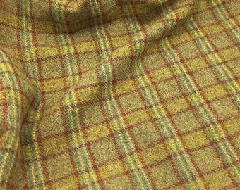 Willow Plaid, 100% Felted Wool for Rug Hooking, Wool Applique and Crafts