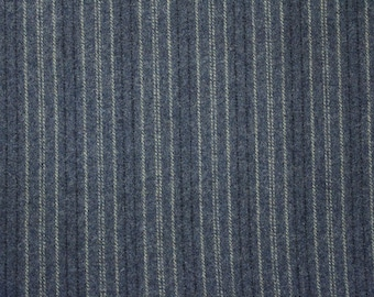 Coverlet Blue Stripe, 100% Felted Wool for Rug Hooking, Wool Applique and Crafts