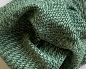 Green and Natural Barley Corn Weave, Felted Wool Fabric for Rug Hooking, Wool Applique and Crafts