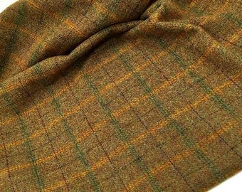 Gingerbread Plaid, 100% Felted Wool Fabric for Rug Hooking, Wool Applique & Crafts