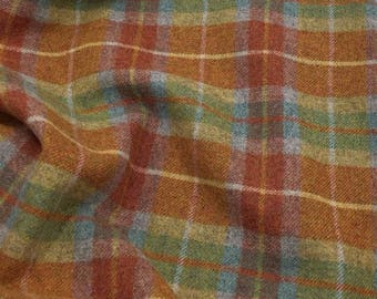 Sweet Pea Plaid, Felted Wool for Rug Hooking, Wool Applique & Crafts