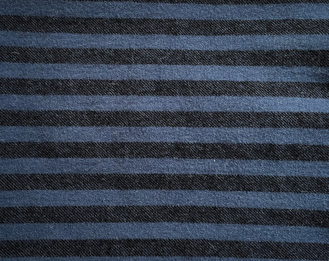 Blueberry Lane Stripe, Felted Wool Fabric for Rug Hooking, Wool Applique and Crafts