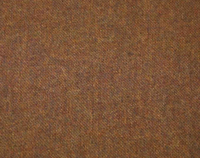 Rusty Pumpkin, Felted Wool Fabric for Rug Hooking, Wool Applique and Crafts