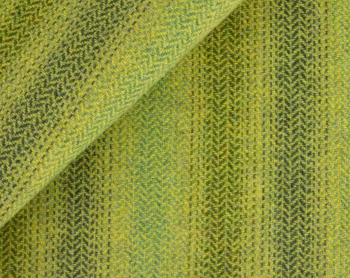 Shades of Lime Ombre, Felted Wool Fabric for Rug Hookin, Wool Applique and Crafts