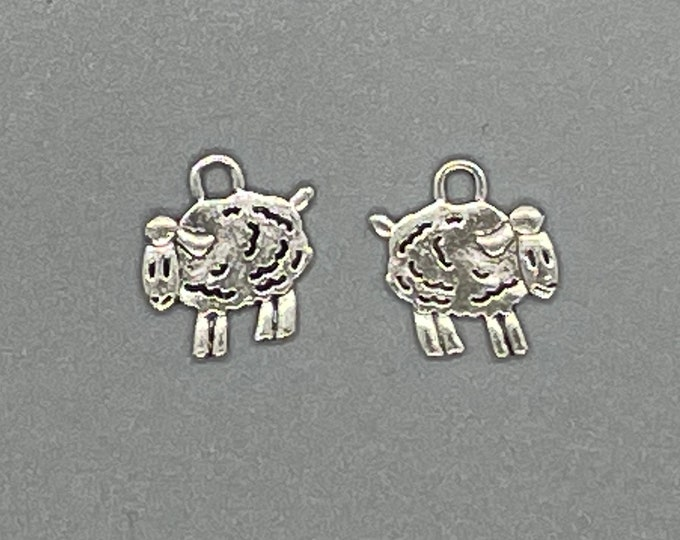 Sheep Charms in a Silver Tone