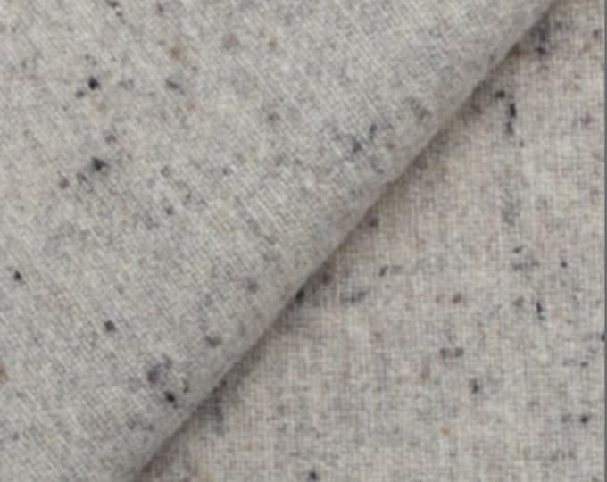 Soft Grey Heather, Felted Wool Fabric for Rug Hooking, Wool Applique and Crafts