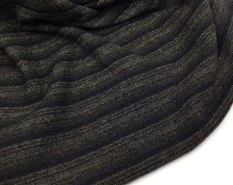 Twisted Licorice, Felted Wool Fabric for Rug Hooking, Wool Applique and Crafts