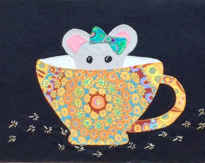 Teacup Mice Digital Appliqué Pattern
