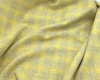 Lemon Twist Plaid, Felted Wool Fabric for Rug Hooking, Wool Applique and Crafts