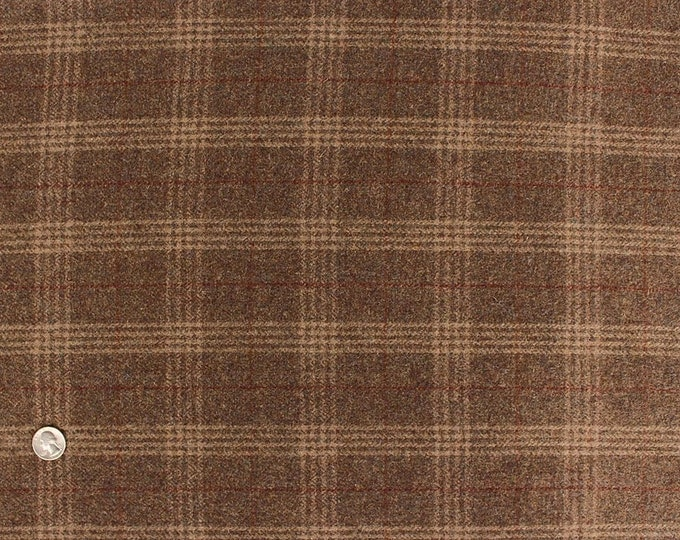 Wolf's Bane Plaid, Felted Wool Fabric for Rug Hooking, Wool Applique and Crafts