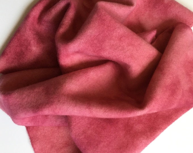 Bright Pink Spot Dyed, Felted Wool for Rug Hooking, Wool Applique and Crafts