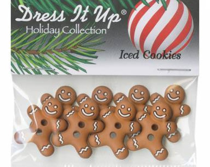 Iced Cookies, Gingerbread Buttons, 8 pieces