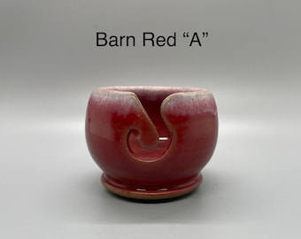 Barn Red, Pottery Thread Bowl