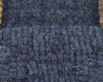 Blueberry Hill Plaid, 100% Felted Wool Fabric for Rug Hooking, Wool Applique & Crafts