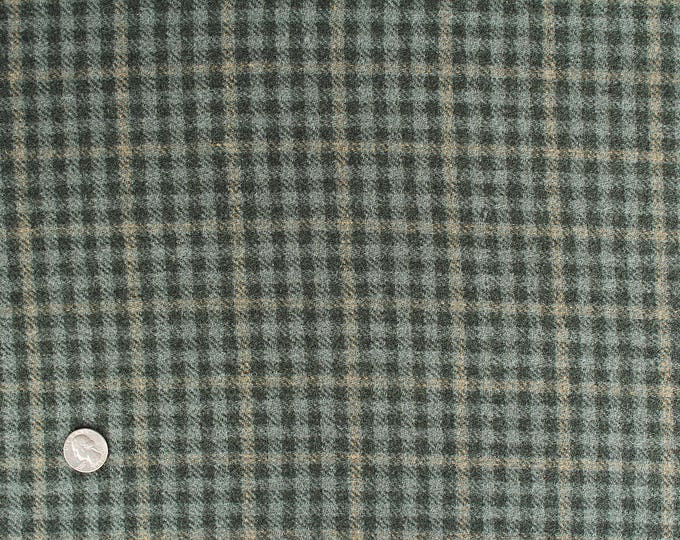 Checkmate, Felted Wool Fabric for Rug Hooking, Wool Applique and Crafts