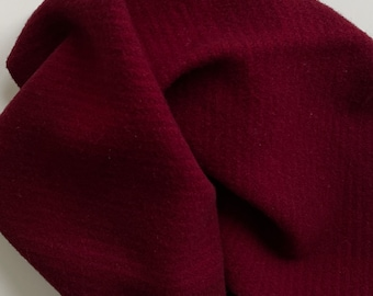 Cranberry, Hand Dyed Fat Quarter, Felted Wool for Rug Hooking, Wool Applique and Crafts