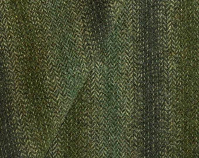 Forest and Mossy Green Ombre, Felted Wool Fabric for Rug Hooking, Wool Applique and Crafts