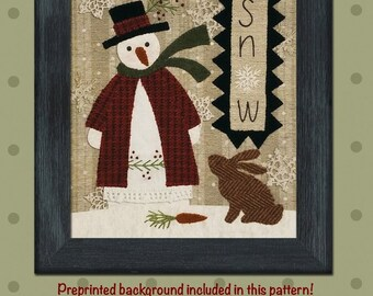 Snow Kit, Wool Appliqué and Embroidery