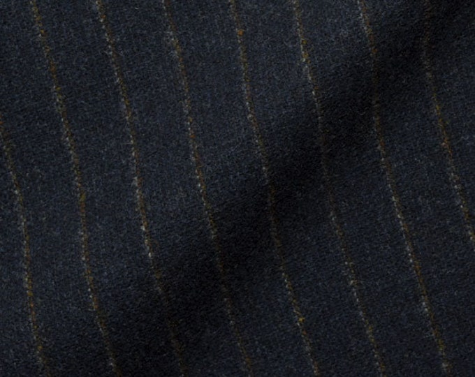 Dark Navy Pinstripe, Felted Wool Fabric for Rug Hooking, Wool Applique and Crafts
