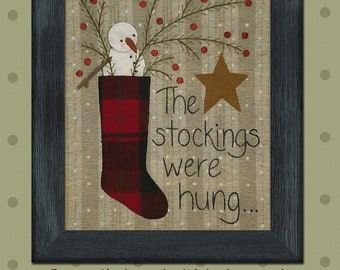 The Stockings Were Hung, Wool Appliqué Kit