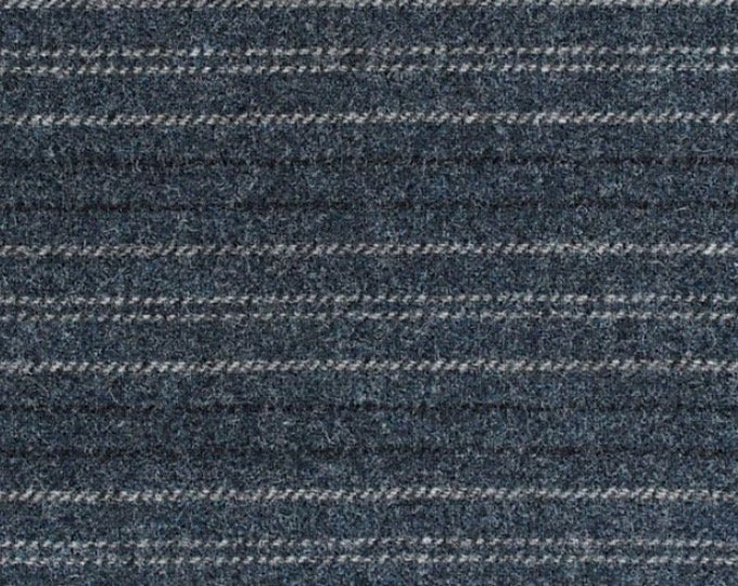 Coverall Blue, Felted Wool Fabric for Rug Hooking, Wool Appliqué and Crafts