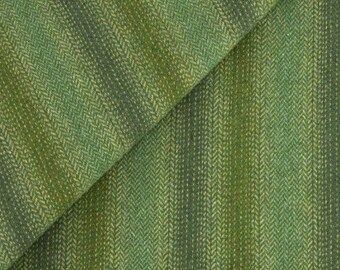 Shades of Medium & Dark Green Ombre, Felted Wool Fabric for Rug Hooking, Wool Applique and Crafts