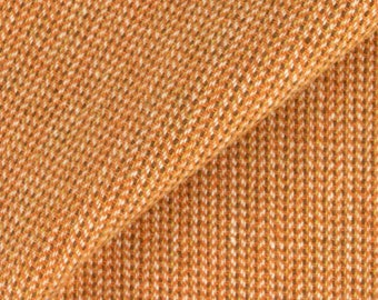 Orange, Natural and Brown Ticking, Felted Wool Fabric for Rug Hooking, Wool Applique and Crafts