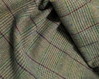 Felix Plaid, 100% Felted Wool Fabric for Rug Hooking, Wool Applique & Crafts